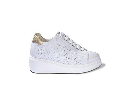 Melluso Bianco Donna in Sneaker Pelle Traforata R20706 xC0nCwqgO
