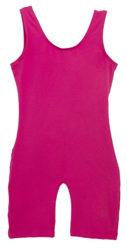 Girls Hot Pink Tank Biketard Unitard 6x7 Intermediate Child
