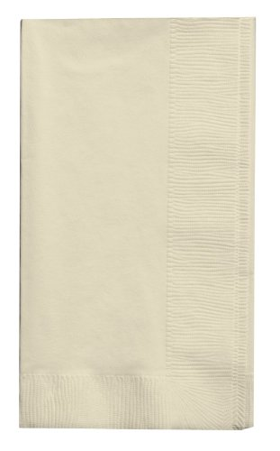(Creative Converting Touch of Color 100 Count 2-Ply Paper Dinner Napkins, Ivory)