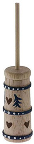 International Miniatures Dollhouse Miniature Old Fashioned Stenciled Butter Churn