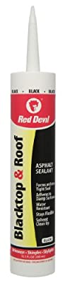 Red Devil 0636 10.1 oz Blacktop and Roof Repair Sealant, Black