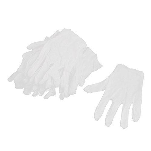 Guanti eDealMax nylon barrette piene elastico del lavoro di lavoro 6 coppie bianche by eDealMax