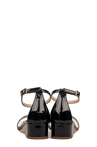 Fabio Rusconi Leather Black Sandals S4124BLACK Women's 7gq6wf7n
