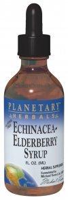 Planetary Formulas Echinacea-Elderberry Syrup, 8 fl Ounce Glass Bottle (236.56 ml)