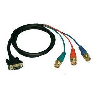 - VGA Male to 3 BNC Male Shielded RGB Video Cable - 6' : 45-5506 by Philmore
