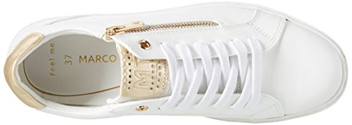 197 Comb Marco Blanc Sneakers 23609 white Basses Femme Tozzi 0w80OS