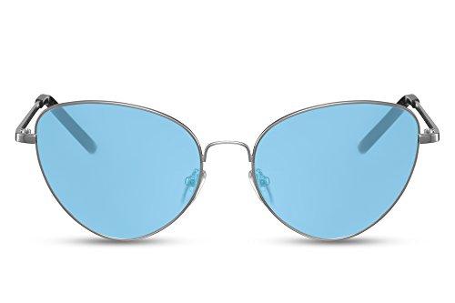 métal de yeux faite soleil Arenté2 Monture Lunettes chat de Cheapass Femmes de Style UV400 Rondes 7AnBwq