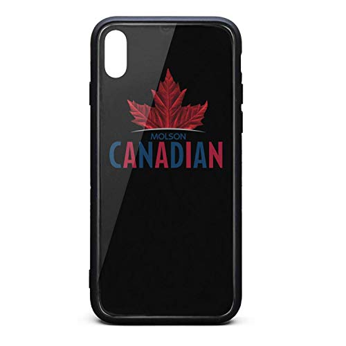 YJRTISF iPhone X Case Shockproof Case Music Blues Glass Rear Cover 9H Tempered Glass Back Cover Molson-Canadian-Beer-Logo- Scratch Resistant Soft TPU Material Bumper for iPhone X