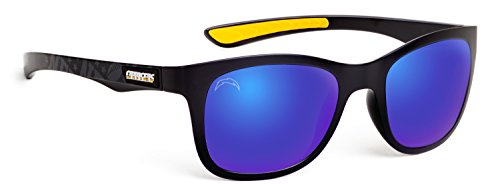 Glass Under Logo Team (Eye Ojo Officially Licensed NFL Sunglasses, San Diego Chargers, 3D Logo on Temple - 100% UVA, UVB & UVC Protection)