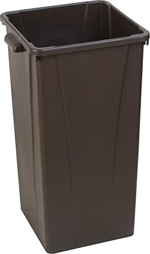 Carlisle 34352369 Centurian Polyethylene Tall Square Container, 23 Gallon Capacity, 15.29'' Length x 16-7/32'' Width x 28'' Height, Brown (Case of 4) by Carlisle