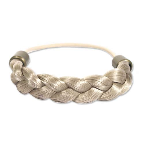 Mia Braided Tonytail, Classic, Pretty Braided Ponytail Holder, Synthetic Wig Hair on Elastic Rubber Band, Blonde, for Women and Girls, PATENTED 1pc (Braided Pony)