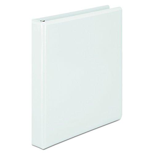 Wilson Jones D-Ring View Binder, Vinyl, 1 Inch, 386 Series, Customizable, White ()