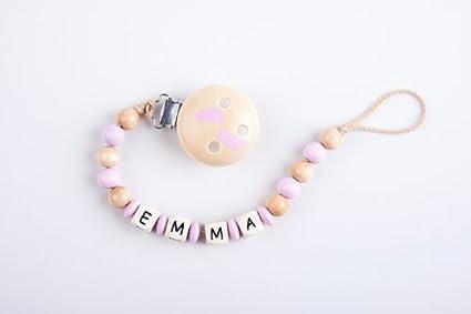 Perle infantil - Cadena para chupete con nombres Emma - Baby ...