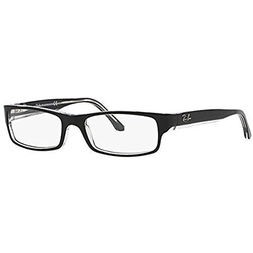 Ray-Ban Women's RX5114-2034  Black/Transparent Frame, Rectangular 54mm Eyeglasses (54 Eyeglasses)
