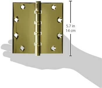 Deltana CSB55BB Solid Brass 5-Inch x 5-Inch Square Hinge