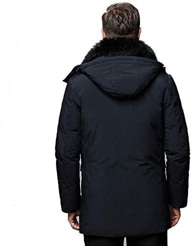 KOUPNLTM Nouvelle Mode Hiver Bas Veste Hommes Manteau Chaud D/écontract/é /À Capuche Moyen Long Manteau /Épais