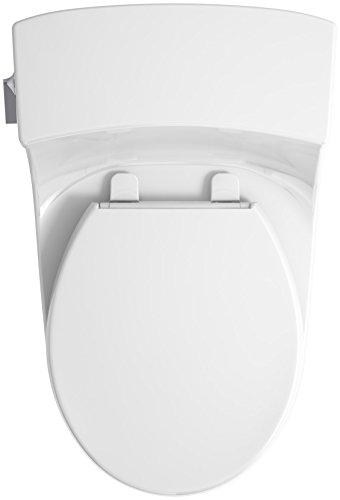 KOHLER K-4007-0 San Souci Round-Front 1.28 GPF Toilet with AquaPiston Flushing Technology and Left-Hand Trip Lever, White, 1-Piece