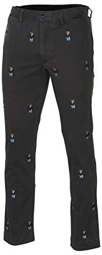 - Polo RL Men's Suit Bear Slim Fit Chino Pants-Faded Black-33 X 32