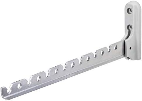 Gedotec Aufbau-Haken Kleiderhaken Garderobe Kleiderlüfter klappbar ALISA   Länge 330 mm   Aluminium silber   Klapphaken für Kleiderbügel   1 Stück - Wand-Kleiderhalter für Balkon & Schränke
