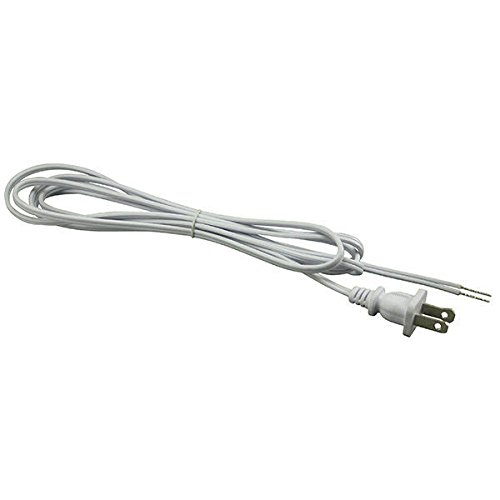 Lamp Cord Set - White - 8 ft. - SPT-1 - PLT 56-1852-40