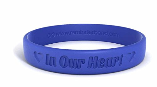 Reminderband Classic Custom Silicone Wristband/Personalized Silicone/Rubber Bracelet (1-Count) for Couples Gifts, Support, Causes, fundraisers, and Awareness