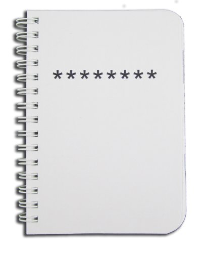 "BookFactory Password Journal / Password Organizer / Password Book / Password Keeper, 120 Pages - 8 1/2"" x 11"", Durable Thick Translucent Cover, Wire-O Binding (JOU-120-7CW-A-(Password))"