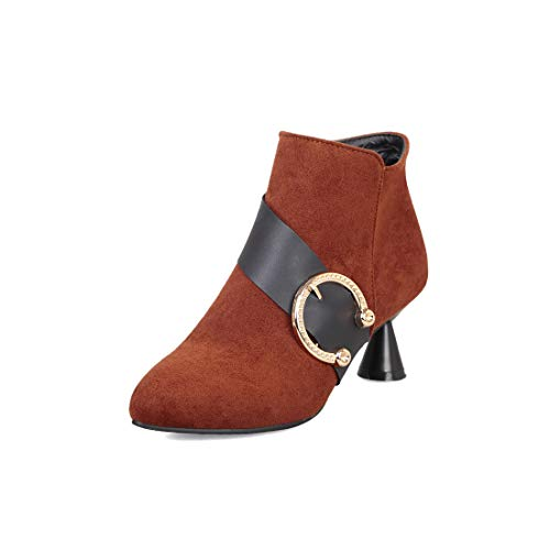 with DEDE Brown Belt boots women's Boots women's buckle Sandalette XqUzfz