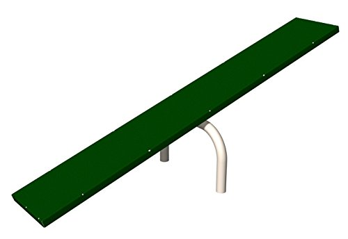 BarkPark Dog Agility Teeter Totter, Green/Beige Teeter Totter Dog