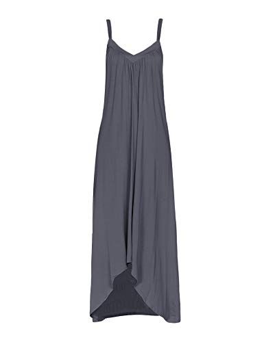 Ekouaer Womens Sleeveless Long Nightgown Summer Slip Night Dress Cotton Sleepshirt Chemise,A-dark Grey_6696,Small - Vintage Nightgown Patterns