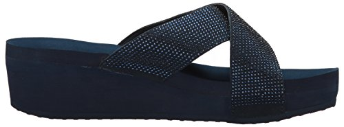 Yellow Box Women's Maxima Sandal, Black, Medium Navy