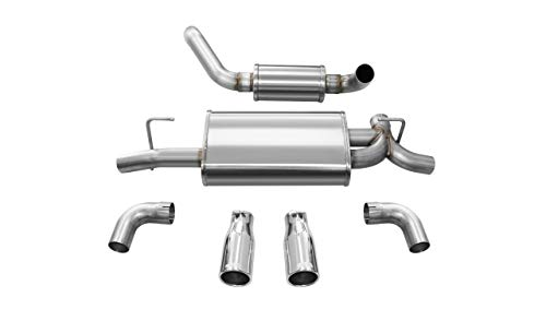 Corsa Performance 21016 Touring Axle-Back Exhaust System Dual Rear Exit 2.5 in. Dia. Incl. Muffler Assy/Front Pipe/Hardware/Dual 3.5 in. Rolled Polished Tips Touring Axle-Back Exhaust System