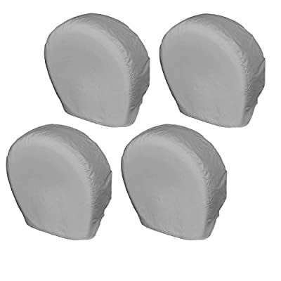 Explore Land Tire Covers 4 Pack - Tough Tire Wheel Protector For Truck, SUV, Trailer, Camper, RV - Universal Fits Tire Diameters 23-25.75 inches, Charcoal: Automotive