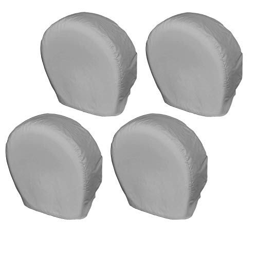Explore Land Tire Covers 4 Pack - Tough Tire Wheel Protector For Truck, SUV, Trailer, Camper, RV - Universal Fits Tire Diameters 23-25.75 inches, Charcoal