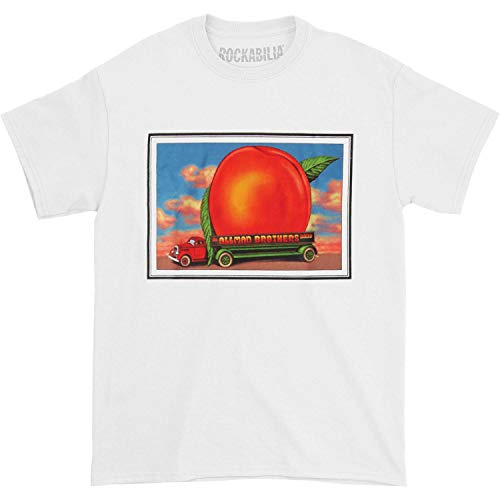 Allman Brothers Band Men's Eat A Peach Mtn Jammin Tour Mens T-shirt Small White Allman Brothers Band Tour
