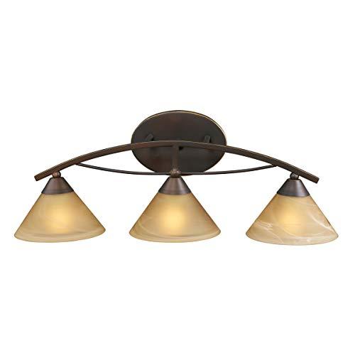 Light Five Elysburg (Elk Lighting Elysburg 3 Light Vanity Light in Aged Bronze)