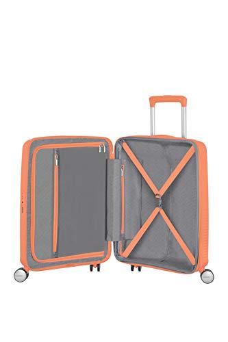 American Tourister Soundbox - Spinner S Espandibile Bagaglio a Mano, 55 cm, 35.5/41 L, Arancione (Cantaloupe) 3 spesavip