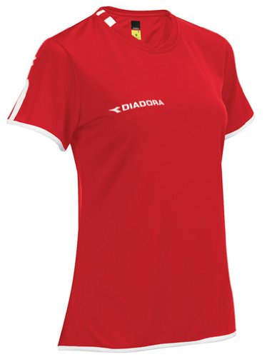 Diadora Valido Jersey Shirt, Red, Medium