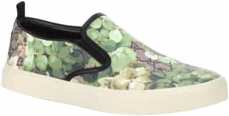 c755c352685 Gucci Bloom Flower Print Supreme GG Green Canvas Slip Sneakers 407362 8961