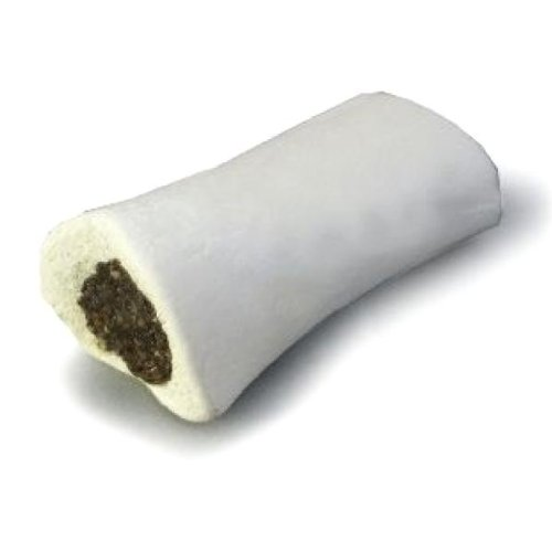 Gourmet Stuffed Shin Bone Dog Treat [Set of 24] Flavor: Peanut Butter, Size: Small