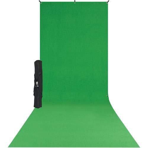(Westcott 579SK X-Drop Wrinkle-Resistant Backdrop Kit - Chroma-Key Green Sweep (5' x 12'))