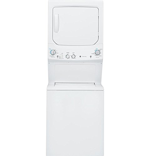GE GUD27ESSJWW 27″ Unitized Spacemaker  Washer and Electric Dryer in White