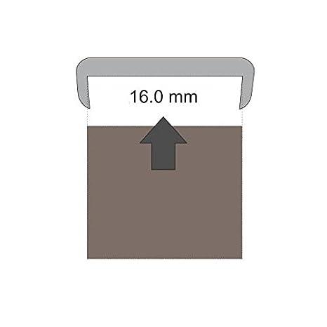 2B16 Cubrecanto de plástico flexible en U (umolding) (16 mm., BLANCO). Tira de 2 metros: Amazon.es: Bricolaje y herramientas