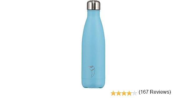 Chillys - Botellas de Frío | A Prueba de Derrames, No Transpirables | Acero Inoxidable sin BPA | Botella de Agua Reutilizable | Aislamiento de Vacío ...