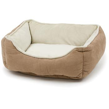 Petco Puffy Box Dog Bed in Tan, My Pet Supplies