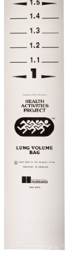 Lung Volume Kit - American Educational 4 Piece Plastic Lung Volume Bags Set