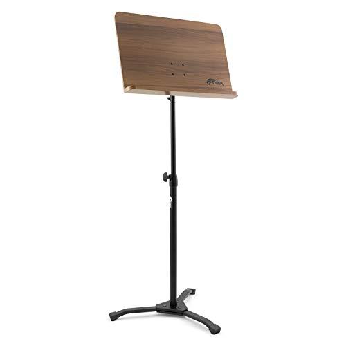 Tiger MUS35-PRO - Soporte de madera para partituras orquestales con base resistente y profesional de metal, ideal para escuelas, orquestas e iglesias