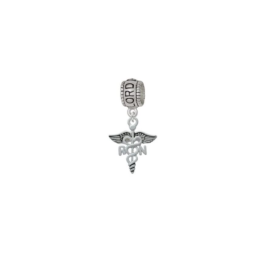 Delight Jewelry Nurse Caduceus Lord Guide Me Charm Bead