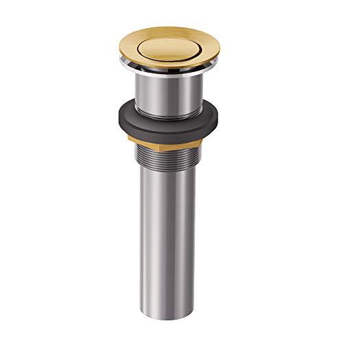 - Moen 140780BG Collection Bathroom Vessel Sink Pop-Up Drain Assembly, Brushed Gold