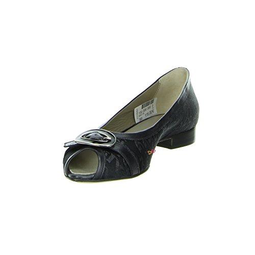 und Leder Schwarz NERO in Ballerina Nero schwarz Giardini Textilmash NAP qz0x8qw4AR