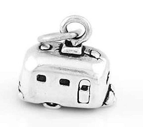 Sterling Silver 3D RV Camper VACTION Trailer Charm Pendant Jewelry Making Supply Pendant Bracelet DIY Crafting by Wholesale Charms ()